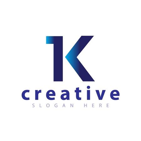 IK Początkowa litera logo wektor Logo