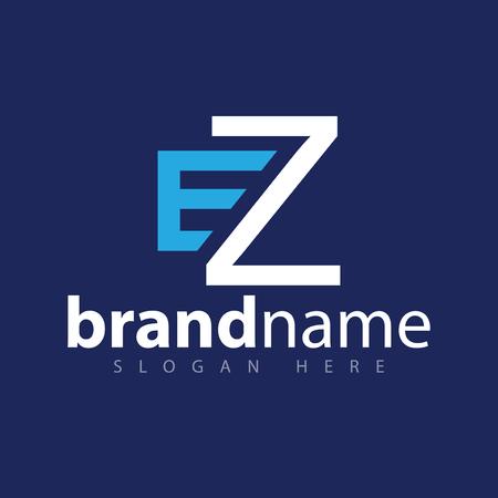 E Z Initial letter logo vector
