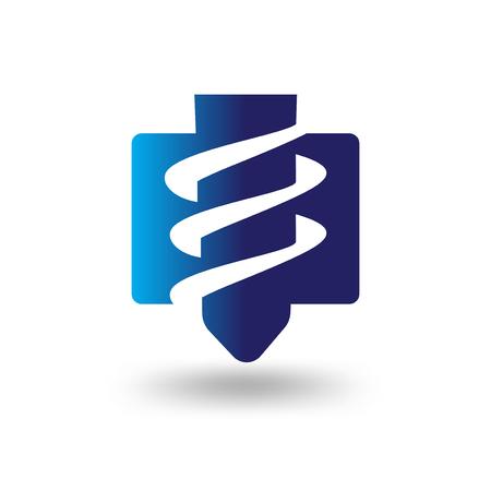 perceuses industrielles logo abstrait icône vecteur Logo