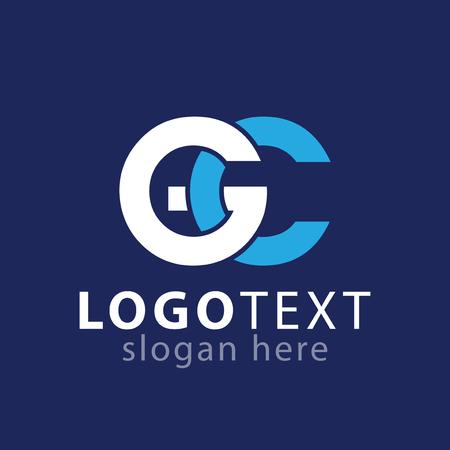 G C Initial letter logo vector