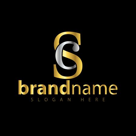 SC eerste brief logo pictogram vector