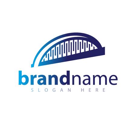 Abstract Bridge logo icon vector Illustration