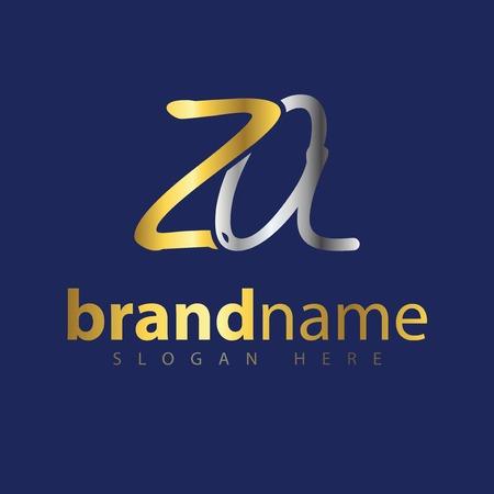 ZA Initial letter logo vector