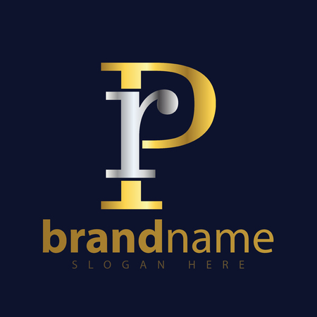 RP Initial letter logo icon vector