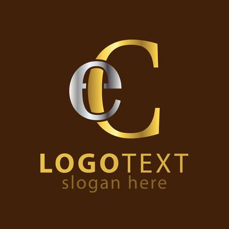 EC Initial letter logo icon vector