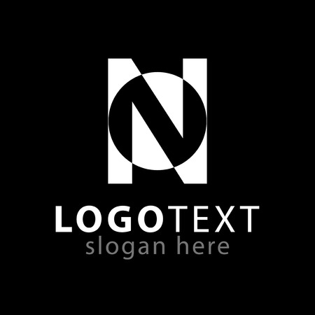 N letter abstract logo icon vector template