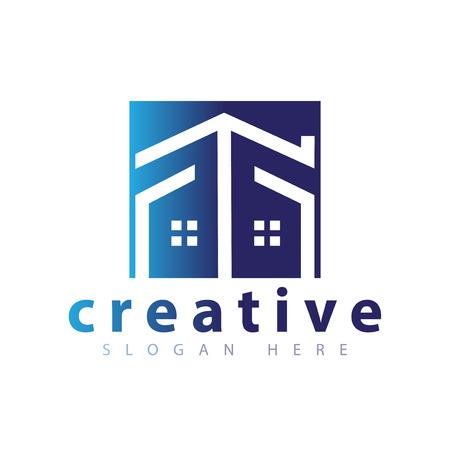 Home Line logo icon vector template