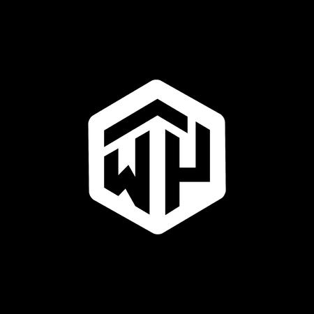 WY Initial letter hexagonal logo vector