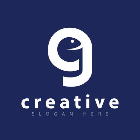 g letter emoji logo icon vector template