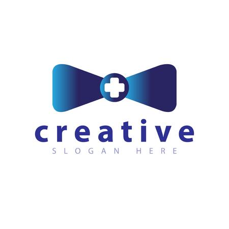Medical tie logo icon vector template