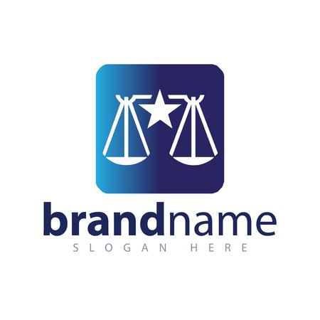 law balance logo icon vector template