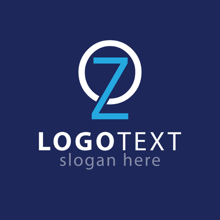 OZ initial letter logo icon vector template