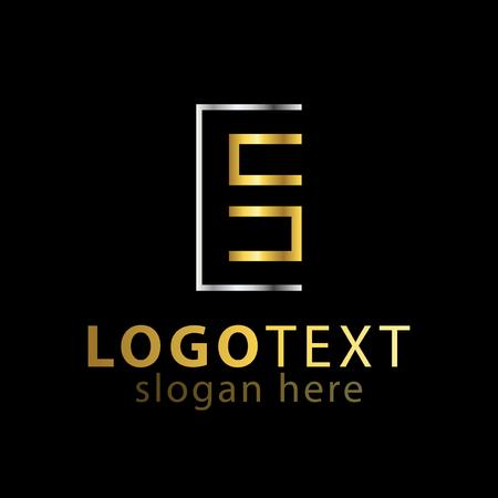 cs initial letter line logo icon vector template Logó