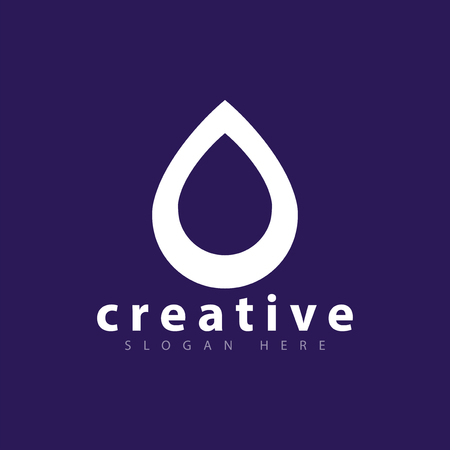 Water Droplet Logo Icon Vector Template Royalty Free Cliparts