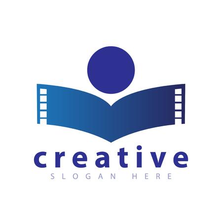 people film logo icon vector template Banco de Imagens - 107524527