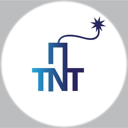 Plantilla de vector de icono de logotipo de bomba de TNT Logos