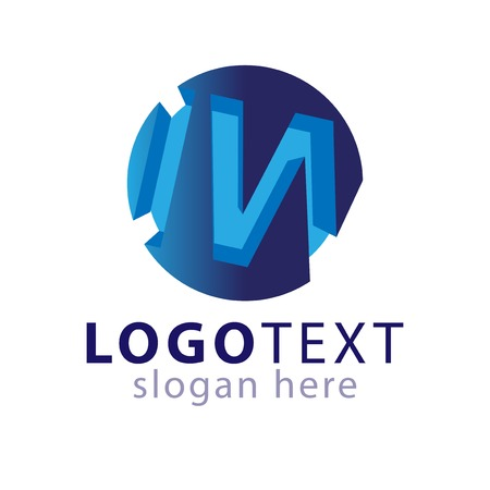 I W initial letter logo icon vector template