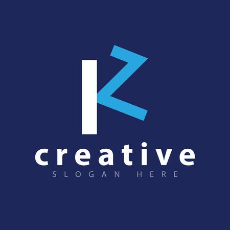K Z initial letter logo icon vector template Ilustração