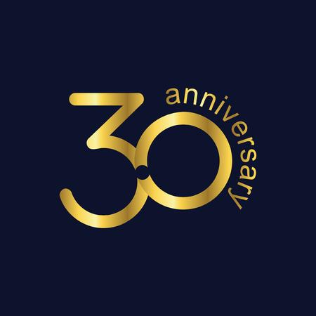30 Anniversary logo icon vector template