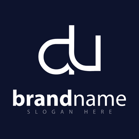 du initial letter logo icon vector template