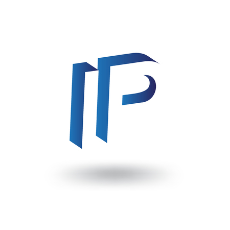 I P initial letter with negative space logo icon vector template Çizim