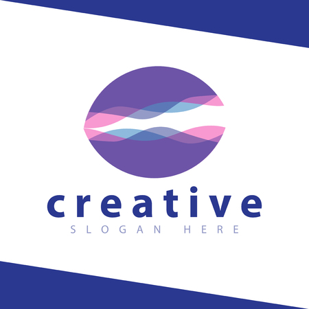 Clam Wave Color Logo vector Template
