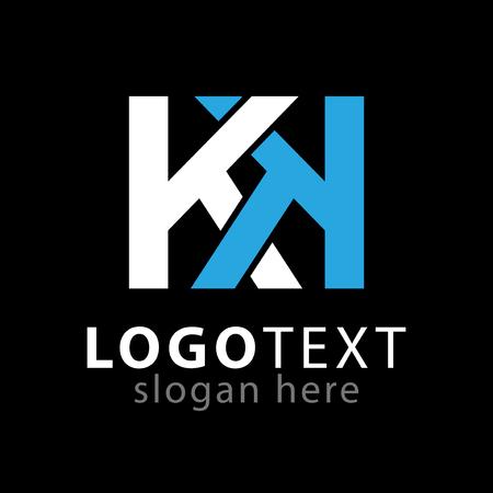 K K initial letter logo icon vector template Logó