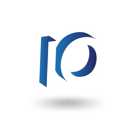 IO initial letter with negative space logo icon vector template