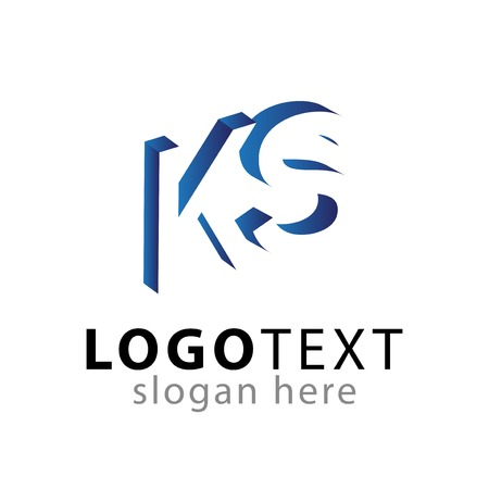 KS initial letter with negative space icon vector template Ilustrace