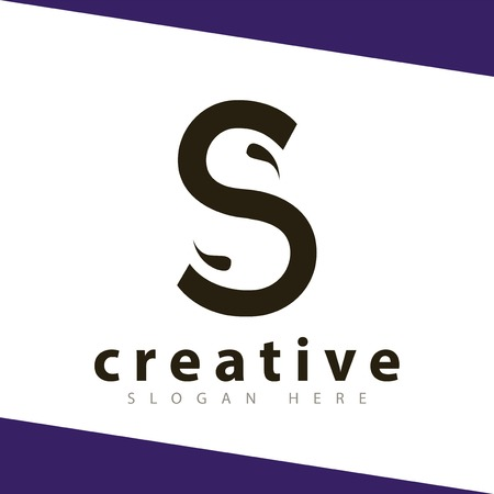 S Letter Abstract Template Illustration