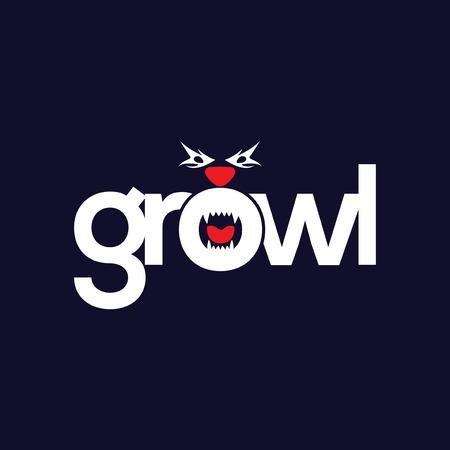 Growl bear logo icon vector template