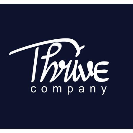 Thrive text logotype logo vector template Illustration