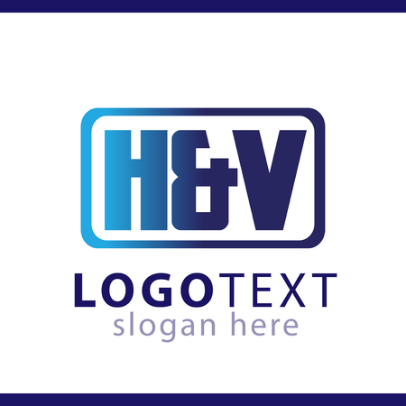 hv initial letter logo vector template Logó