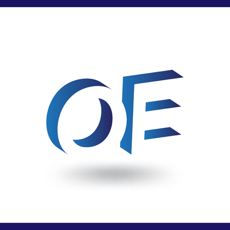 OE initial letter with negative space logo icon vector template 일러스트