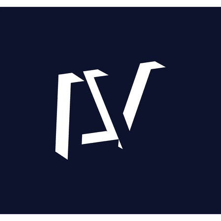 L V initial letter with negative space logo icon vector template Illustration