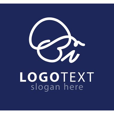 bi initial letter logo vector template