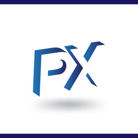 PX initial letter with negative space logo icon vector template 일러스트