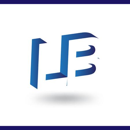 LB eerste brief met negatieve ruimte logo vector pictogrammalplaatje