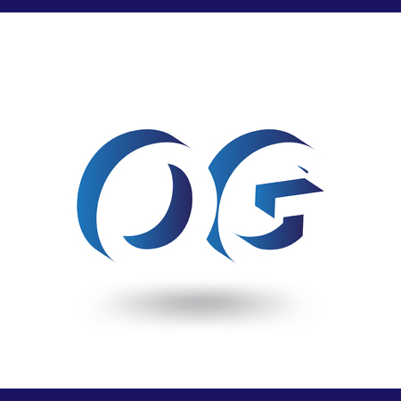 OG initial letter with negative space logo icon vector template 일러스트