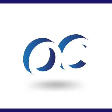 O C initial letter with negative space logo icon vector template Logo