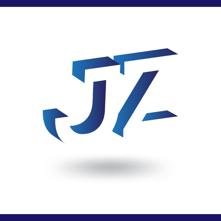 J Z initial letter with negative space logo icon vector template 일러스트