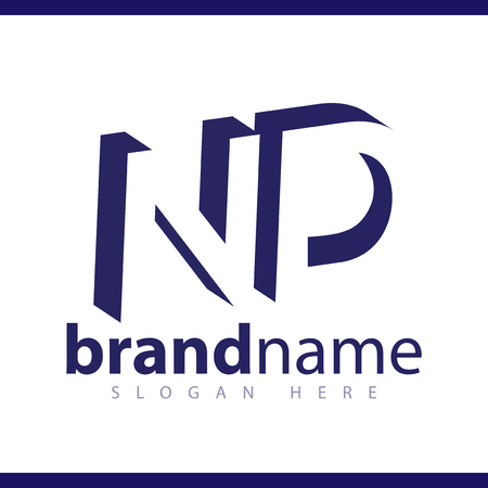 ND initial letter with negative space logo icon vector template 일러스트