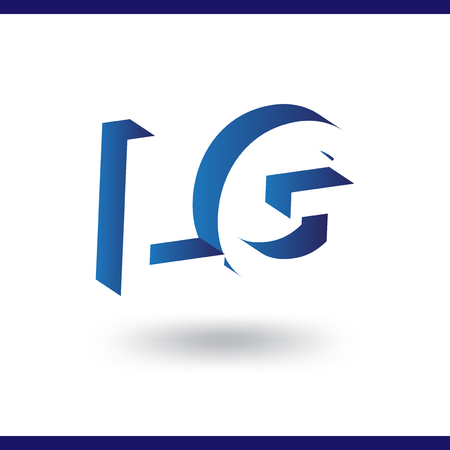 LG initial letter with negative space logo icon vector template 일러스트