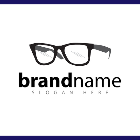 eyeglasses logo vector template