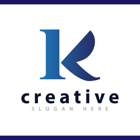 k initial letter logo vector template Ilustrace