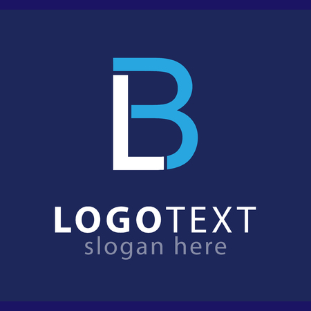 lb initial letter logo vector template Logó