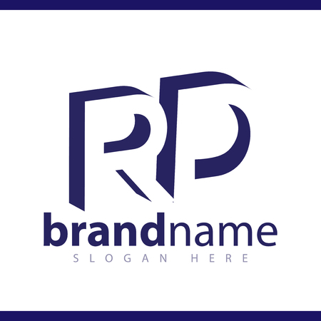 RD initial letter with negative space logo icon vector template 일러스트