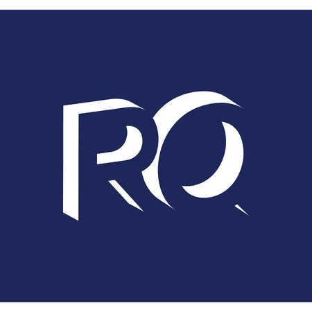 R Q initial letter with negative space logo icon vector template 일러스트