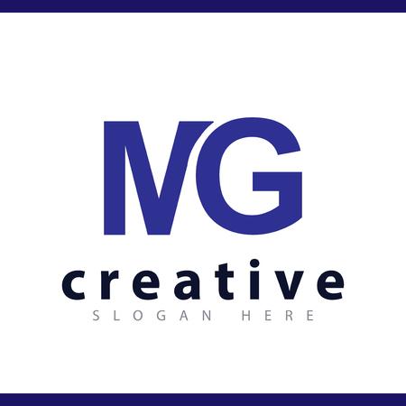 mg początkowej litery logo wektor szablon Logo