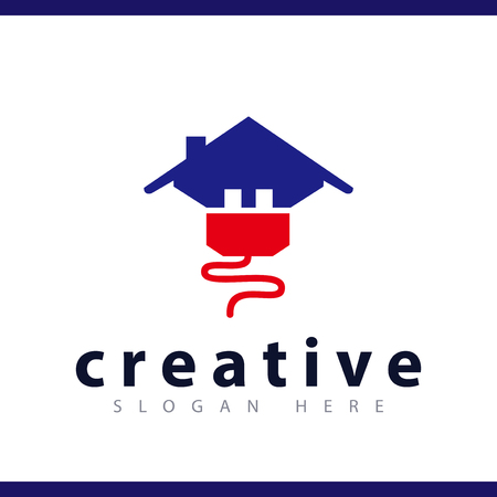 electric home logo vector template